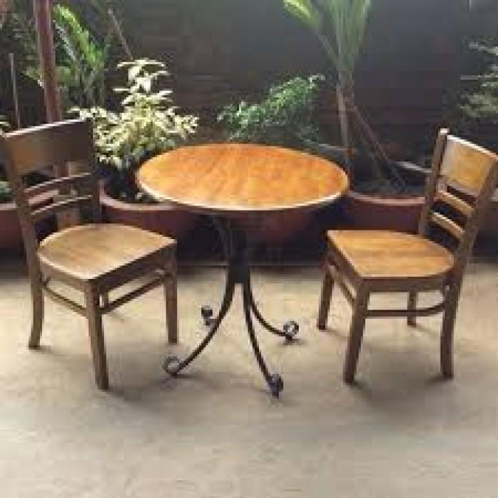 Bàn ghế  gổ cafe giá rẻ tại xưởng sản xuất 000720