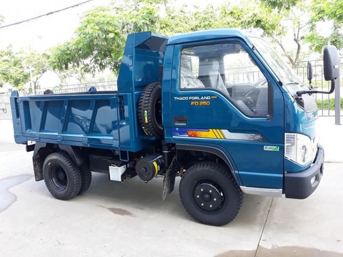 Xe Ben FD250 Euro4, Tải trọng 2.4900KG, 2.1 khối ,Hỗ trợ trả góp ưu đãi.