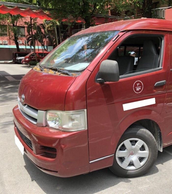 Bán xe Toyota Hiace 2007 dầu số sàn màu đỏ đô