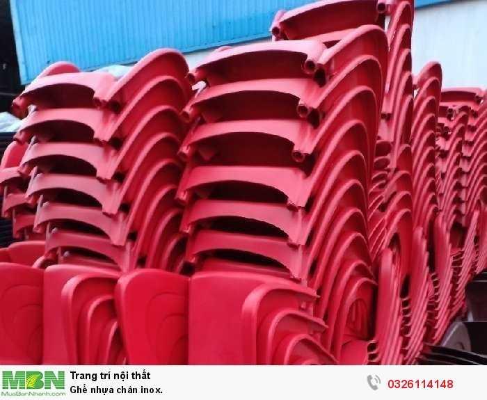 Ghế nhựa chân inox.1