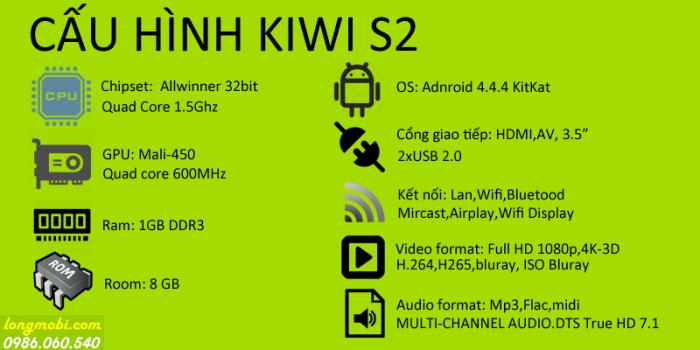 Android Kiwibox S2 . Đủ sức chơi tốt các Game hạng nặng. Với bộ vi xử lý đồ họa GPU Mali 400 tốc độ 800mhz tích hợp sẵn, mang lại hình ảnh sắc nét, hỗ trợ độ phân giải 4K UHD mới nhất.4