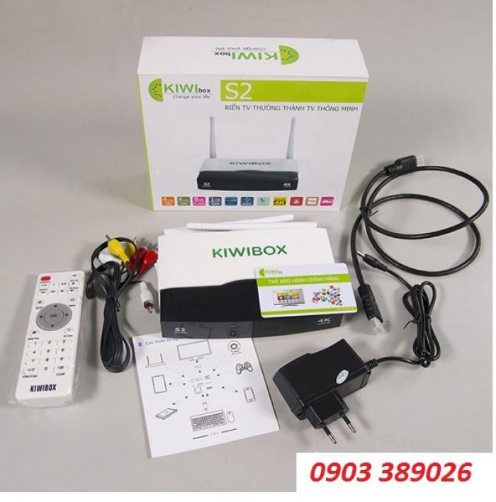 Trọn bộ bao gồm: Đầu Kiwibox S2, Dây HDMI 2.0, Remote, Dây AV, Nguồn DC 5V – 2A, Sách hướng dẫn.2