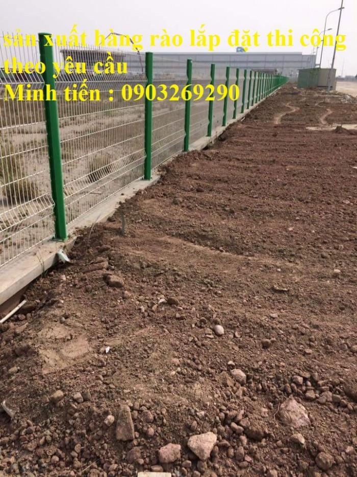 Sản xuất thi công hàng rào lưới thép mạ kẽm - sơn tĩnh điện phi 4, phi5, phi 6,.... phi 11, phi 1212