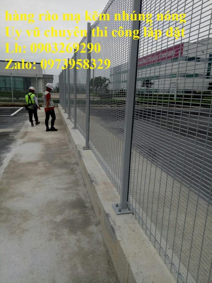 Sản xuất thi công hàng rào lưới thép mạ kẽm - sơn tĩnh điện phi 4, phi5, phi 6,.... phi 11, phi 1211