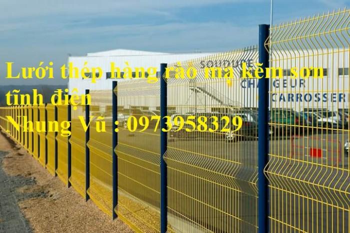 Sản xuất thi công hàng rào lưới thép mạ kẽm - sơn tĩnh điện phi 4, phi5, phi 6,.... phi 11, phi 1210
