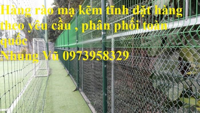 Sản xuất thi công hàng rào lưới thép mạ kẽm - sơn tĩnh điện phi 4, phi5, phi 6,.... phi 11, phi 129