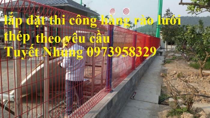 Sản xuất thi công hàng rào lưới thép mạ kẽm - sơn tĩnh điện phi 4, phi5, phi 6,.... phi 11, phi 128