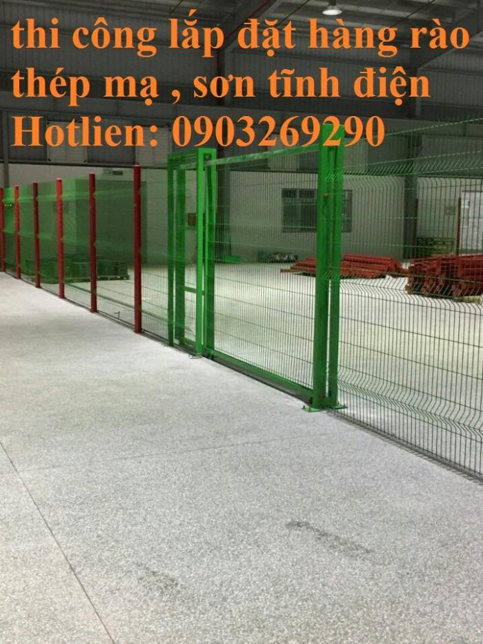 Sản xuất thi công hàng rào lưới thép mạ kẽm - sơn tĩnh điện phi 4, phi5, phi 6,.... phi 11, phi 127