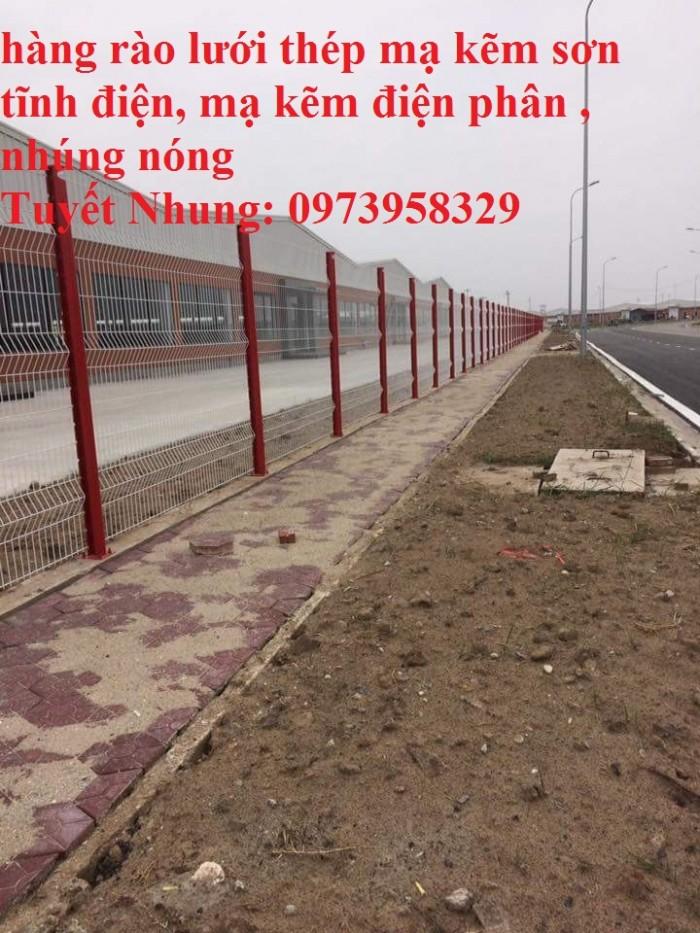Sản xuất thi công hàng rào lưới thép mạ kẽm - sơn tĩnh điện phi 4, phi5, phi 6,.... phi 11, phi 125
