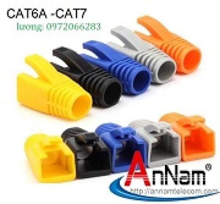 Đầu chụp mạng Đầu chụp mạng Cat6A-CAT7 Chuyên dùng cho cáp mạng Cat6ACat6A-CAT7 Chuyên dùng cho cáp mạng Cat6A1