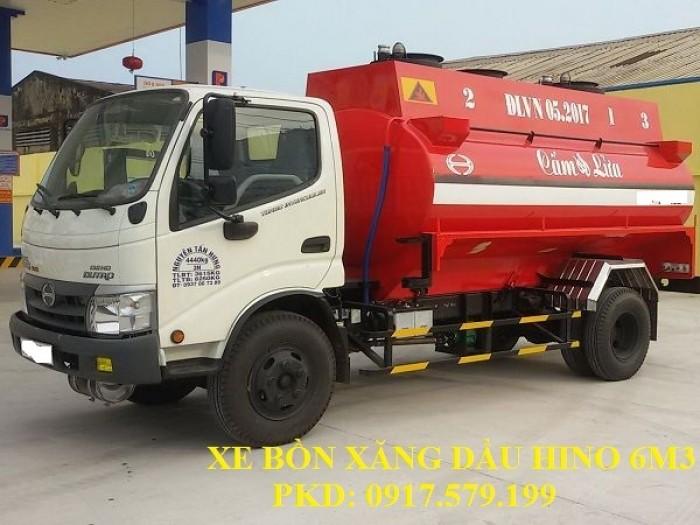 Xe Bồn Xăng Dầu Hino 6m3