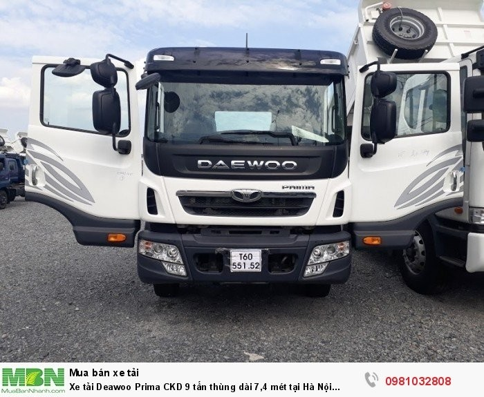 Xe tải Deawoo Prima CKD 9 tấn thùng dài 7,4 mét