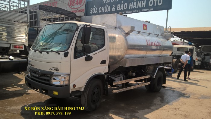 Xe Bồn Xăng Dầu Hino 6m3 (Bồn Nhôm)