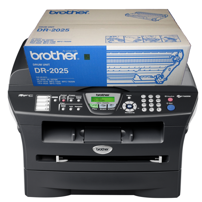 CỤM TRỐNG BROTHER DR 2025 dùng cho các dòng máy Brother: MFC 7420/7820 , DCP 7010, HL 2040/2820/2070.2