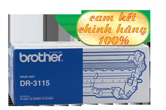 CỤM TRỐNG BROTHER DR 3115 sử  dụng cho các dòng máy Brother: HL 5240/5250D/5270DN, MFC  8460N/8860DN, DCP 8060/8065DN.3