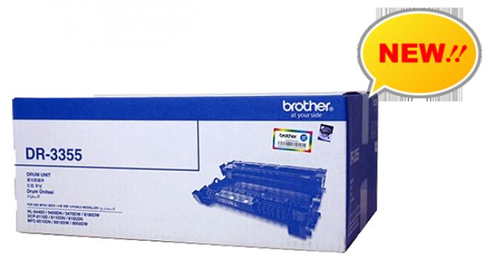 CỤM TRỐNG BROTHER DR 3355 sử  dụng cho các dòng máy Brother: HL 5440D/5450DN/5470DW/6180DW, DCP-8110D/8110DN/8155DN, MFC 8510DN/8910DW/8950DW4