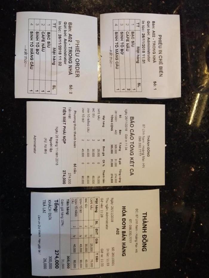Bán Trọn bộ Máy Tính Tiền POS cho Quán Cafe tại Tân Bình Bình Thạnh1
