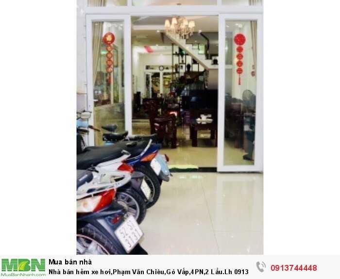 Nhà bán hẻm xe hơi,Phạm Văn Chiêu,Gò Vấp,4PN,2 Lầu.Lh 0913744448