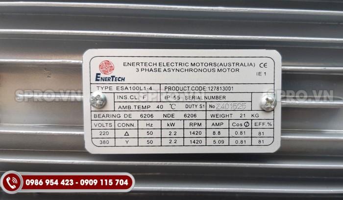 Mô tơ điện Enertech 3 pha công suất 3HP