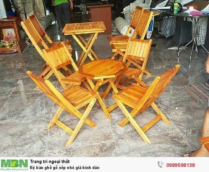 Bộ bàn ghế gỗ xếp nhỏ giá bình dân0