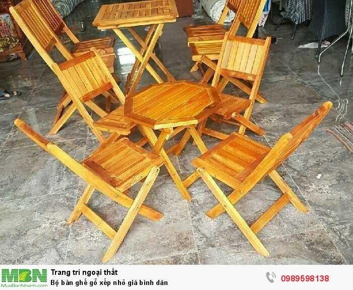 Bộ bàn ghế gỗ xếp nhỏ giá bình dân1