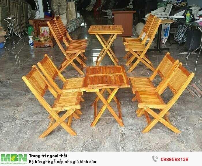 Bộ bàn ghế gỗ xếp nhỏ giá bình dân2