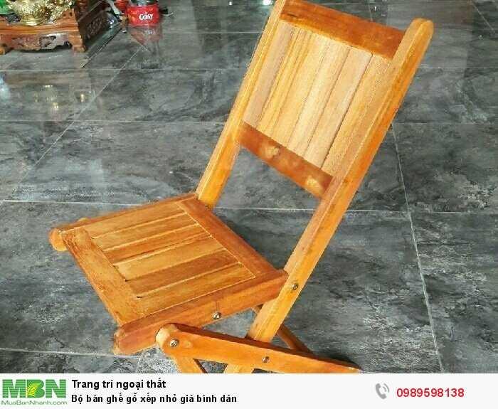 Bộ bàn ghế gỗ xếp nhỏ giá bình dân3