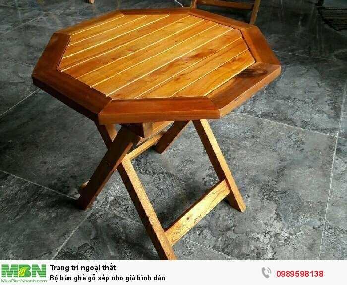 Bộ bàn ghế gỗ xếp nhỏ giá bình dân4