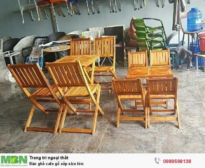 Bàn ghế cafe gỗ xếp size lớn2