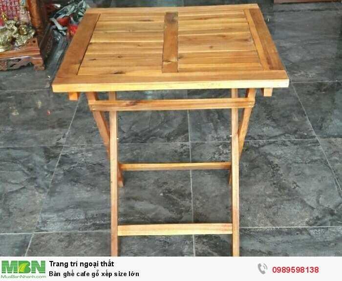 Bàn ghế cafe gỗ xếp size lớn3