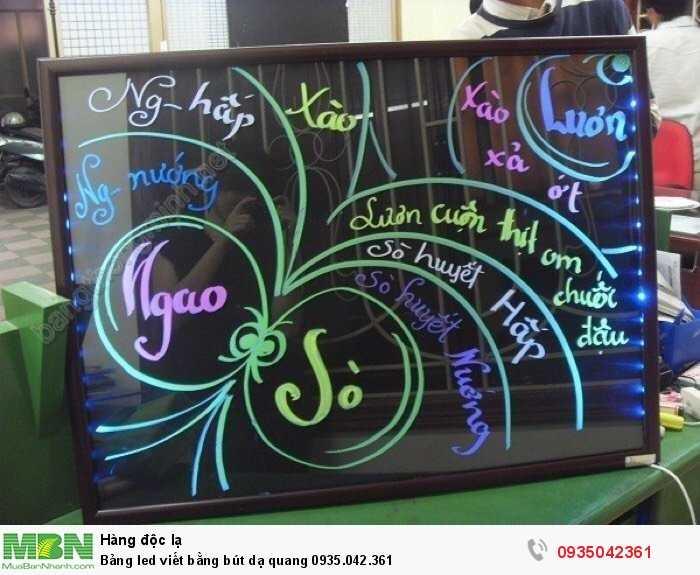 Bảng led viết bằng bút dạ quang4