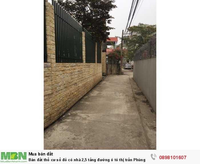 Bán đất thổ cư sổ đỏ có nhà 2,5 tầng đường ô tô thị trấn Phùng