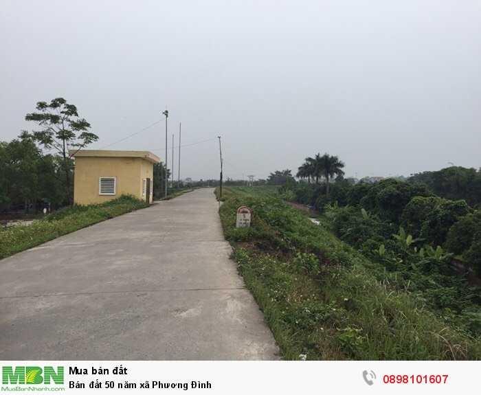 Bán đất 50 năm xã Phương Đình