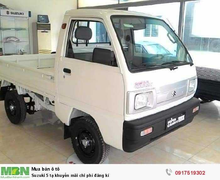 Suzuki 5 tạ khuyến mãi chi phí đăng kí