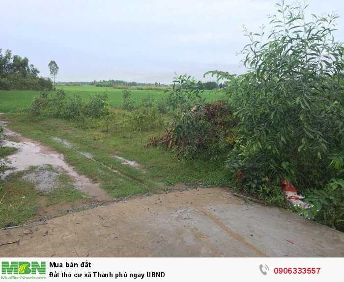 Đất thổ cư xã Thanh phú ngay UBND