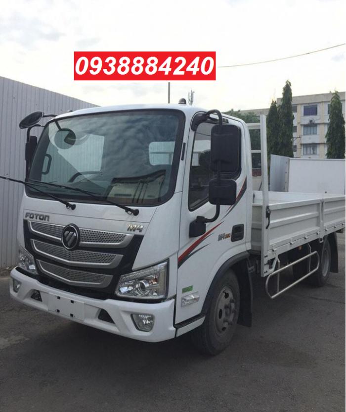 Bán xe tải Thaco Foton M4-350 euro 4 tải 3,5 tấn thùng 4,4m - Góp 80% Long An Tiền Giang Bến Tre 0