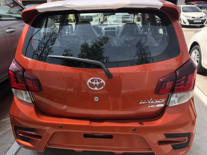 Toyota wigo 1.2 số tự động màu cam  giao ngay