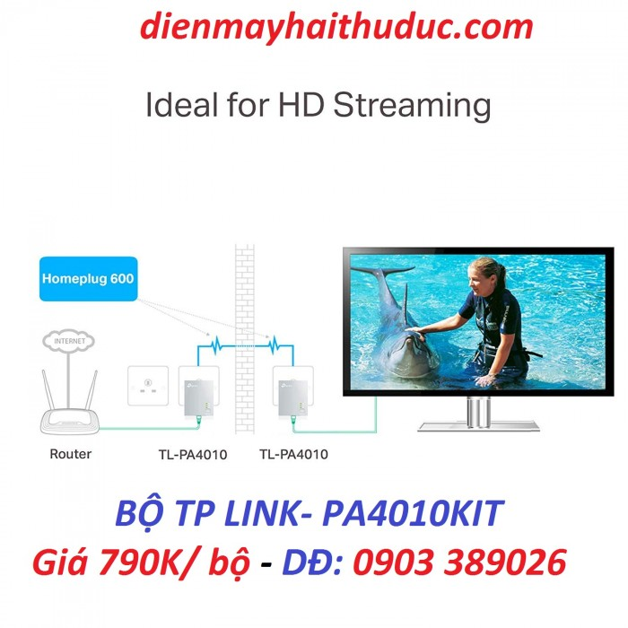 TP-Link TL-PA4010KIT -Sử dụng đơn giản thiết lập một mạng Powerline dễ dàng trong nháy mắt với thiết bị TP-LINK TL-PA4010KIT, chỉ cần cắm và sử dụng..