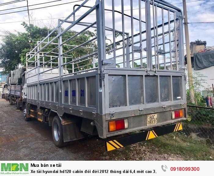 Xe tải hyundai hd120 cabin đôi đời 2012 thùng dài 6,4 mét cao 3,8 mét 1
