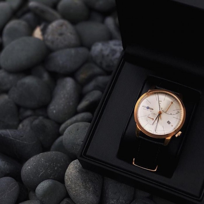 Đồng hồ Zeppelin 7368-4 Series Flatline rose gold