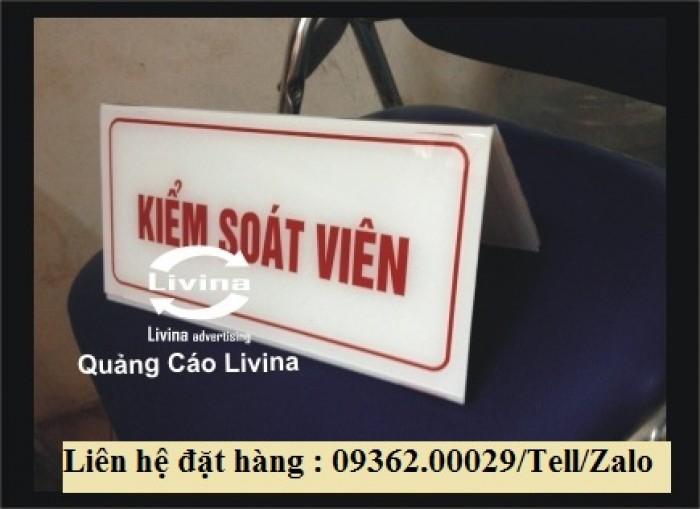 Biển chức danh để bàn bằng mica- Sản xuất tại quận Thanh Xuân8