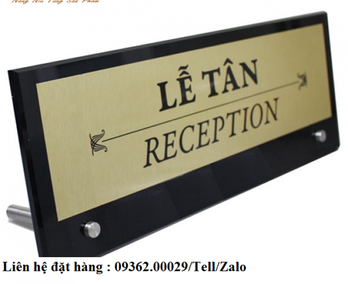 Biển chức danh để bàn bằng mica- Sản xuất tại quận Thanh Xuân12