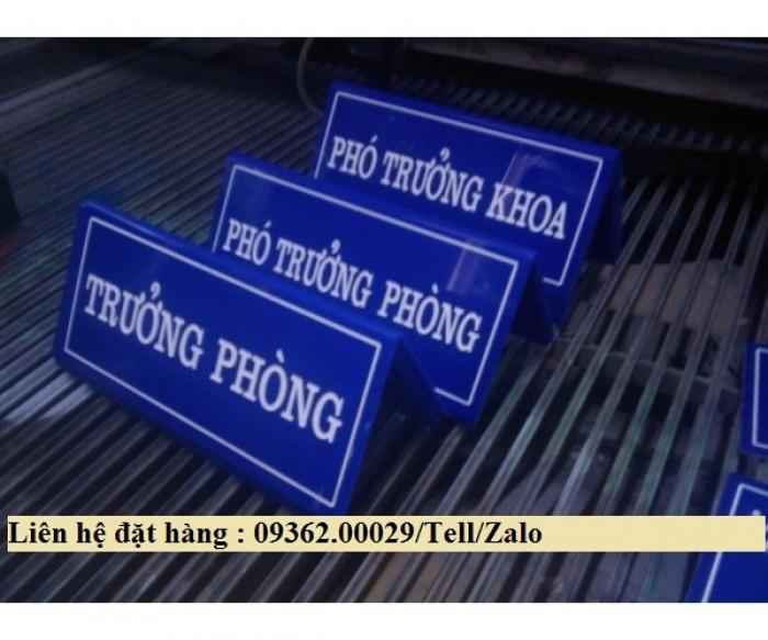 Biển chức danh để bàn bằng mica- Sản xuất tại quận Thanh Xuân15