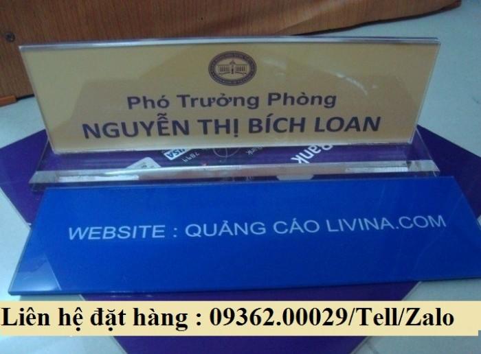Biển chức danh để bàn bằng mica- Sản xuất tại quận Thanh Xuân21