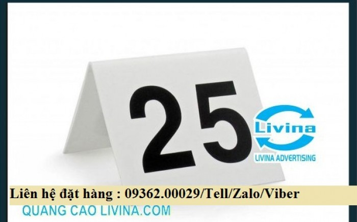 Biển số bàn mica- CUng cấp các loại biển số bàn giá rẻ0