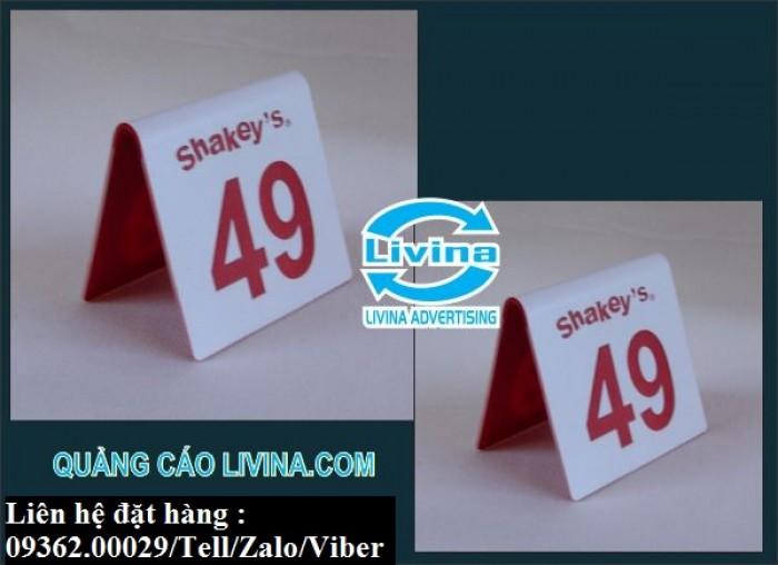 Biển số bàn mica- CUng cấp các loại biển số bàn giá rẻ10