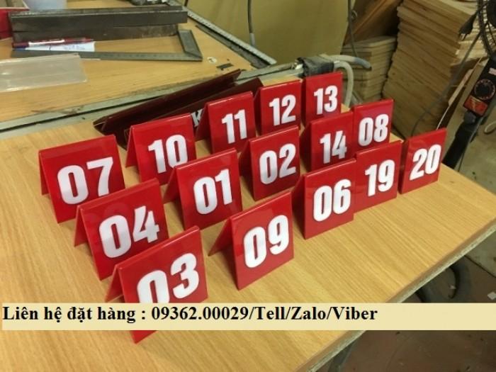 Biển số bàn mica- CUng cấp các loại biển số bàn giá rẻ12