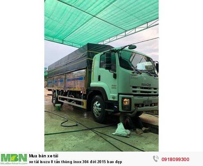 Xe tải isuzu 8 tấn thùng inox 304 đời 2015 bao đẹp