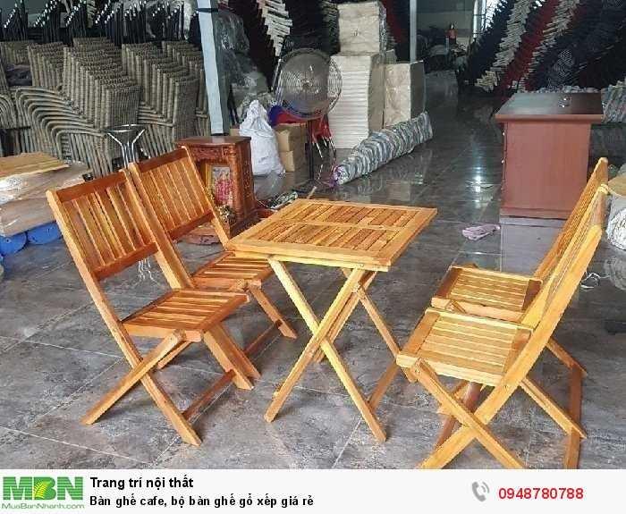 Bàn ghế cafe, bộ bàn ghế gổ xếp giá rẻ4