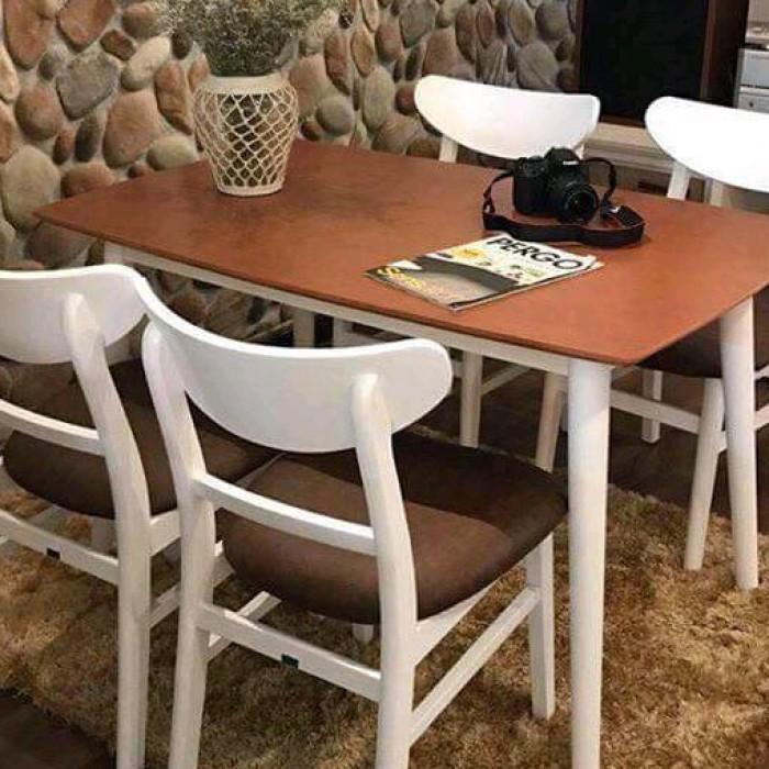 Bàn ghế gỗ quán ăn giá rẻ HTT030